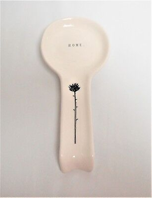 "Rae Dunn Ceramic Spoon Rest New 2018 Line ""HOME."" - Flower"