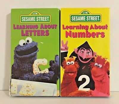 sesame street learning about letters sesame vhs lot rock amp roll sing along learning to 24809 | Sesame Street Learning About Letters Learning About Numbers