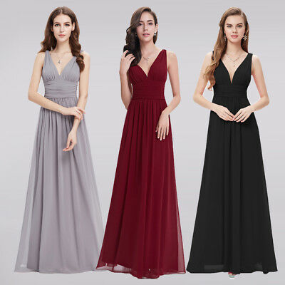 Cheap Formal Wedding Bridesmaid Dresses Long Evening Party Homecoming Dresses