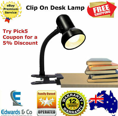 Reading Light Lamp Flexible Student Clip On Clamp Study Table Desk Study Bed