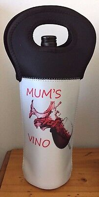 Luxury Wine Bottle Cooler Carrier Bag - MUM'S VINO - MOTHER'S DAY GIFT
