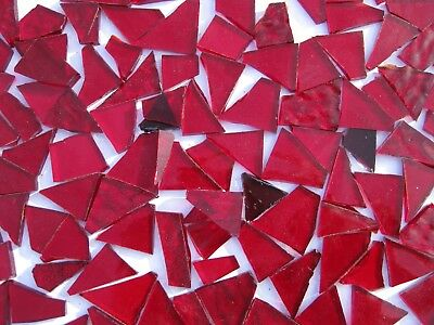 """""""100g - MIXED RED"""" Stained Glass for MOSAIC & Glass Crafts"""