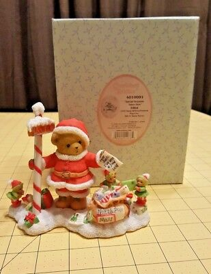 2008 Cherished Teddies Elliot 4010091 Limited Edition 14th in Santa Series New