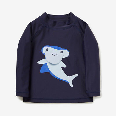 Seed Heritage Novelty Shark Rashie Swimwear Top- 12-18 Months (Size 1) $29.95
