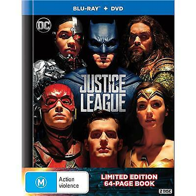 Justice League (Digibook Edition) (Blu-ray- DVD, 2018) (Region B/4) New Release