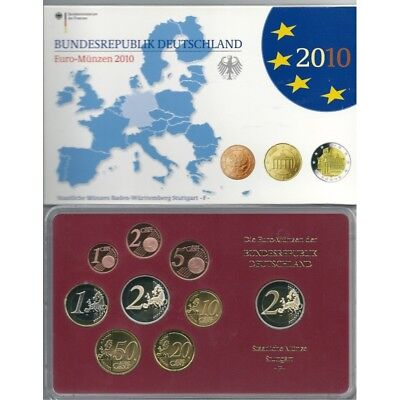 2010 Germany Divisional Proof Of 5 Ticks 9 Coins Euro Mf8789