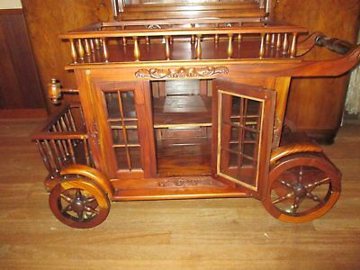 Drinks Trolley - Vintage Wooden Stage Coach