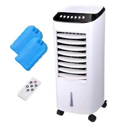 65W 7L Evaporative Air Cooler Portable Fan Humidifier Cooling Swing with Remote