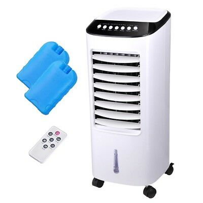 7L Evaporative Air Cooler Portable Fan Humidifier Conditioner Cooling Swing 65W
