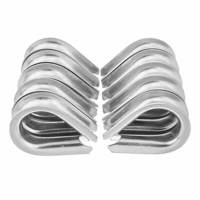 uxcell 304 Stainless Steel Thimble for 9/16 inch 14mm Diameter Wire Rope 10pcs