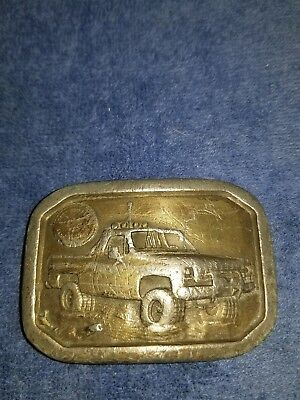 Vintage 1977 Free Wheelin' Four Wheelin Pickup Truck Belt Buckle