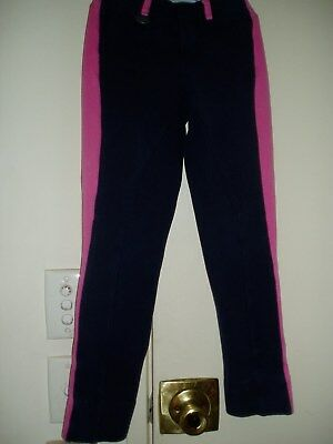 JODHPURS GIRLS - SIZE 6 - NAVY WITH HOT PINK by Peter Williams