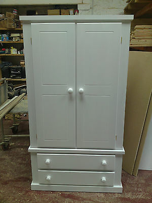 Shaftesbury Range White Gents 2 Drawer Robe Tongue And Groove Drawer Boxes