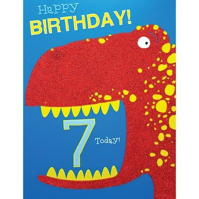 Boys 7th Birthday Card Age 7 Musical Notes 189 Picclick Uk