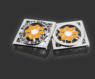 Brand New 2015 Scotty Cameron Orange and White Hula Flower Coin Ball Marker