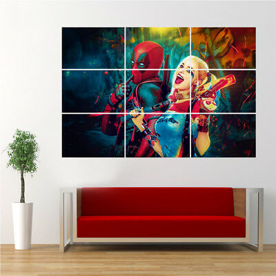 Deadpool and Harley Quinn Poster Giant Print Wall Art D12D27