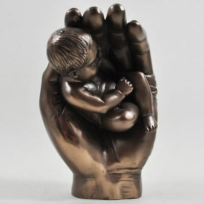 Bronze Effect Baby Gift Idea Christening Keepsake Present Sculpture