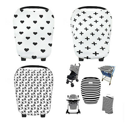 Baby Car Seat Canopy Nursing Breastfeeding Cover Shopping Cart Stroller Covers