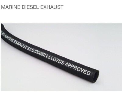 Marine Diesel Exhaust Hose Saej2006R1, Lloyds Approved X 10 Metre Coil