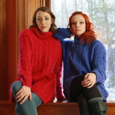 Two Big 80's Mohair Turtleneck Sweaters