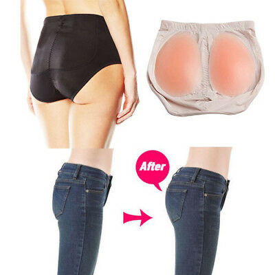 Women Silicone Pad Padded Bum Butt Pant Enhancer Hip Up Buttocks 0192