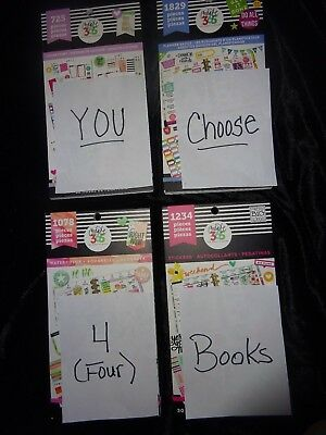 Lot of 4 Happy Planner STICKER BOOKS Over 20 BOOKS YOU CHOOSE THE 4  YOU WANT!!
