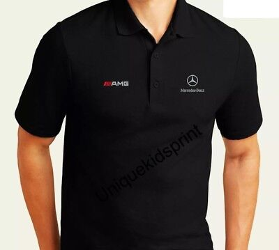 MERCEDES AMG Motorsport EMBROIDERED POLO SHIRT (ABSOLUTE) JACKETS, S - XXXL