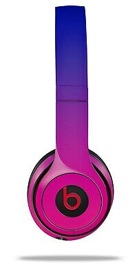 Skin Beats Solo 2 3 Smooth Fades Hot Pink Blue Wireless Headphones NOT INCLUDED