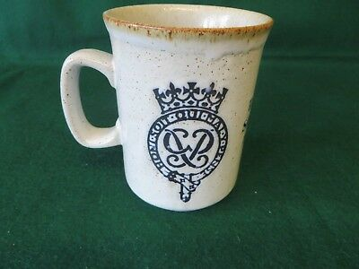 1977 Queens Silver Jubilee Dunoon Mug Ceramics  Made In Scotland Looks Unused