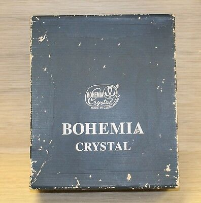 Vintage BOHEMIA Crystal 7 Pc Decanter Glasses Whiskey Set Czech Republic