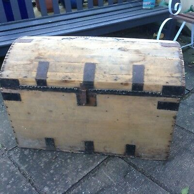 Large Antique Pine Blanket Box/Chest /Trunk