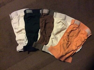 Lot of 5 used G diapers - Medium size : covers (pants/outer shell) with Liners