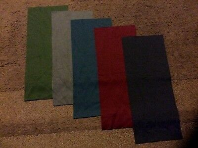 "Lot of 5 used Lil Helper bamboo diaper liners- one size fits all (5""x12"")"