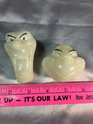 Casper Friendly Ghost SET GLOW in DARK Candy holders 2 DIFFERENT GHOSTS UNUSED