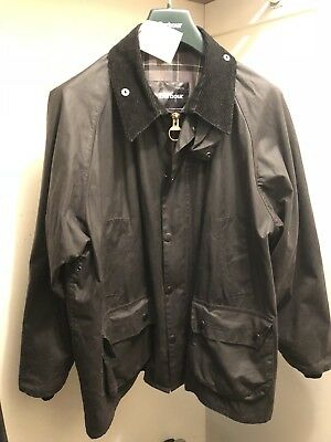 Men's Barbour Bedale Waxed Cotton Jacket XL/46 Black