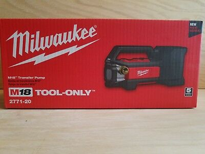 Brand New  Milwaukee 2771-20 M18 Transfer Pump ( Tool Only ) in Retail Box