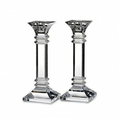 WATERFORD CRYSTAL Treviso 20cm Candlestick Pair - RRP £50.00