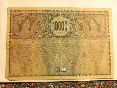 Oversized banknote from Austria - 10,000 Kronen - Circulated - JCcug