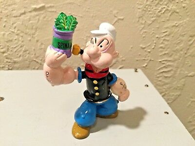 Popeye The Sailor Man Holding Spinach Tattoos Muscles PVC Figure Artoy K.F.S.