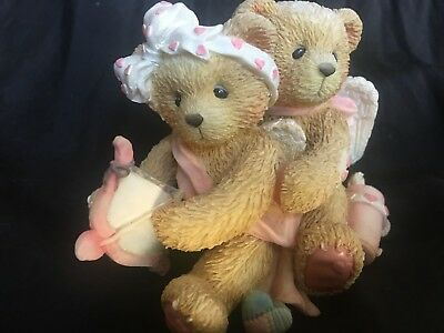 """Cherished Teddies #103594 """"AIMING FOR YOUR HEART"""" Cupid Couple on a Mission"""