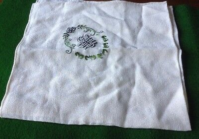 Antique (silk?) Embroidered Handkerchief Chinese Letters