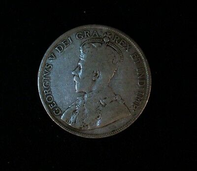 1918 Canadian 50 cent coin  80% Silver