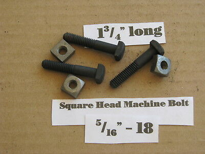 "Antique 5/16"" -18 X 1 3/4"" Square Head Bolts NOS LOT of 10"