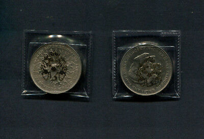 Gb 1980 & 1981 Royal Wedding & Queen Mother Crown Coins Sealed In Barclays Pouch