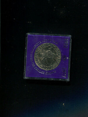 Gb 1977 Silver Jubilee Crown Unc Mint Coin In Sealed Capsule