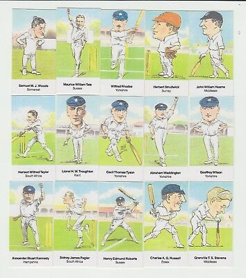 Cricketers series 2 : D Rowland UK sports trade card set