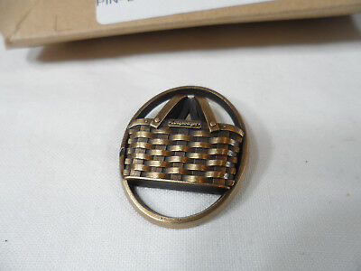 Longaberger Bronze Basket Home Consult Pin -- sooo very nice!!!