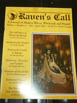 Raven's Call; Journal of Modern Wicca, Raven Grimassi  2001 Vol 1 No. 4