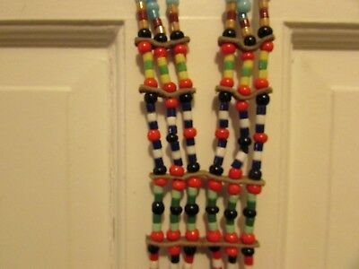 OLD PLAINS INDIAN MULTI STRAND TRADE BEAD NECKLACE  large unique and colorful