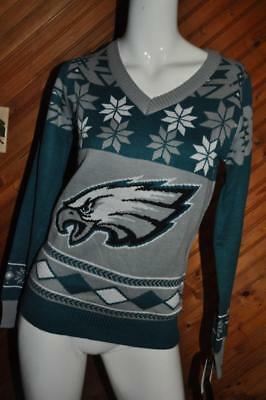Forever Collectibles Nfl Big Logo Ugly Crew Neck Sweater